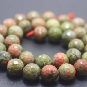 Shop Unakite Beads! 128 Faceted Unakite Round Beads, 6mm / 8mm / 10mm / 12mm Gemstone Beads Supply, 15 Inches One Starand | Natural genuine beads Unakite beads for beading and jewelry making.  #jewelry #beads #beadedjewelry #diyjewelry #jewelrymaking #beadstore #beading #affiliate #ad
