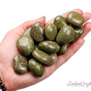 Shop Tumbled Unakite Crystals & Pocket Stones! Epidote Tumbled Stone, Healing Crystals, Healing Epidot Stones, Epidote Natural Gemstone, Unakite Gems, Ladiescrystals, Ladies Crystals | Natural genuine stones & crystals in various shapes & sizes. Buy raw cut, tumbled, or polished gemstones for making jewelry or crystal healing energy vibration raising reiki stones. #crystals #gemstones #crystalhealing #crystalsandgemstones #energyhealing #affiliate #ad