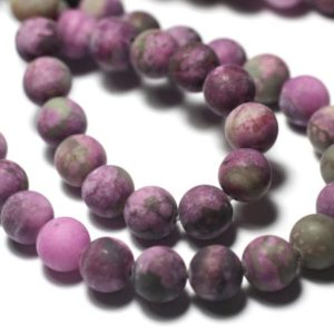 Shop Sugilite Beads! Wire 39cm 45pc Env – Pearls Of Stone – Sugilite Balls 8mm Violet Pink Frosty Mat | Natural genuine round Sugilite beads for beading and jewelry making.  #jewelry #beads #beadedjewelry #diyjewelry #jewelrymaking #beadstore #beading #affiliate #ad