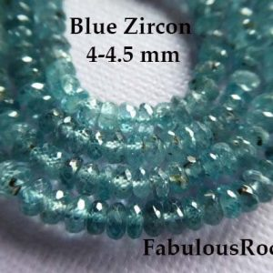 10-100 pcs / ZIRCON Rondelles Gemstone Beads, AAA, like diamonds Facetd Blue Zircon, choose 3.5-4 mm, December birthstone 34 | Natural genuine faceted Zircon beads for beading and jewelry making.  #jewelry #beads #beadedjewelry #diyjewelry #jewelrymaking #beadstore #beading #affiliate #ad