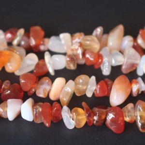 Shop Agate Chip & Nugget Beads! Red Stripped Agate Chip Beads, Chips Beads Supply, 32 Inches One Starand | Natural genuine chip Agate beads for beading and jewelry making.  #jewelry #beads #beadedjewelry #diyjewelry #jewelrymaking #beadstore #beading #affiliate #ad