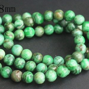 Shop Agate Round Beads! 8mm Dyed Green Crazy Lace Agate Beads,Smooth and Round Stone Beads,15 inches one starand | Natural genuine round Agate beads for beading and jewelry making.  #jewelry #beads #beadedjewelry #diyjewelry #jewelrymaking #beadstore #beading #affiliate #ad