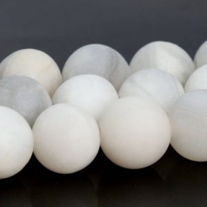 Shop Agate Round Beads! Matte White Crazy Lace Agate Beads Grade AAA Genuine Natural Gemstone Round Loose Beads 4MM 6MM 8MM 10MM Bulk Lot Options | Natural genuine round Agate beads for beading and jewelry making.  #jewelry #beads #beadedjewelry #diyjewelry #jewelrymaking #beadstore #beading #affiliate #ad