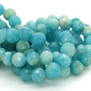 Shop Amazonite Faceted Beads! Natural Amazonite, Amazonite Faceted Sphere Ball Round Natural Gemstone Beads Stones | Natural genuine faceted Amazonite beads for beading and jewelry making.  #jewelry #beads #beadedjewelry #diyjewelry #jewelrymaking #beadstore #beading #affiliate #ad