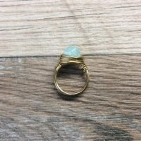 Amazonite Ring – 14k Gold Filled Or Sterling Silver, Faceted Wire Wrapped Gemstone Ring | Natural genuine Gemstone jewelry. Buy crystal jewelry, handmade handcrafted artisan jewelry for women.  Unique handmade gift ideas. #jewelry #beadedjewelry #beadedjewelry #gift #shopping #handmadejewelry #fashion #style #product #jewelry #affiliate #ad
