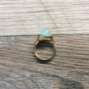 Shop Amazonite Rings! Amazonite ring – 14k gold filled or Sterling silver, faceted wire wrapped gemstone ring | Natural genuine Amazonite rings, simple unique handcrafted gemstone rings. #rings #jewelry #shopping #gift #handmade #fashion #style #affiliate #ad