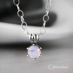 Shop Amethyst Jewelry! Lavender Quartz Solitaire Necklace, Sterling Silver Amethyst Necklace, Dainty Lilac Necklace | Moonkist Designs | Natural genuine Amethyst jewelry. Buy crystal jewelry, handmade handcrafted artisan jewelry for women.  Unique handmade gift ideas. #jewelry #beadedjewelry #beadedjewelry #gift #shopping #handmadejewelry #fashion #style #product #jewelry #affiliate #ad