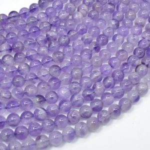 Amethyst, 6 mm(6.5mm) Round Beads, 15.5 Inch, Full strand, Approx 62-65 beads, Hole 1mm  (115054013) | Natural genuine round Amethyst beads for beading and jewelry making.  #jewelry #beads #beadedjewelry #diyjewelry #jewelrymaking #beadstore #beading #affiliate #ad