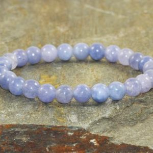 Shop Angelite Jewelry! 6mm Angelite Stacking Bracelet, Aa Grade, Throat Chakra Crystals, Spiritual Guidance-connect With Guardian Angels-dreamwork & Lucid Dreaming | Natural genuine Angelite jewelry. Buy crystal jewelry, handmade handcrafted artisan jewelry for women.  Unique handmade gift ideas. #jewelry #beadedjewelry #beadedjewelry #gift #shopping #handmadejewelry #fashion #style #product #jewelry #affiliate #ad