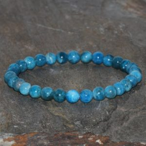 Shop Apatite Bracelets! 5.5mm Blue Apatite Bracelet, Genuine Apatite Bracelet, Blue Beaded Bracelet,Apatite Mens Beaded Bracelet,Apatite Jewelry,Bead Bracelet Women | Natural genuine Apatite bracelets. Buy handcrafted artisan men's jewelry, gifts for men.  Unique handmade mens fashion accessories. #jewelry #beadedbracelets #beadedjewelry #shopping #gift #handmadejewelry #bracelets #affiliate #ad