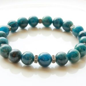 Shop Apatite Bracelets! Blue Apatite Stretch Bracelet for Women Men natural blue gemstone energy healing protection chakra balance beaded mala mothers day gift 3972 | Natural genuine Apatite bracelets. Buy crystal jewelry, handmade handcrafted artisan jewelry for women.  Unique handmade gift ideas. #jewelry #beadedbracelets #beadedjewelry #gift #shopping #handmadejewelry #fashion #style #product #bracelets #affiliate #ad