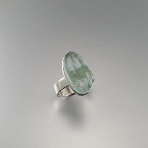 Shop Aquamarine Rings! Natural Raw Stone Aquamarine Ring With Sterling Silver – Gift Idea – Oval Ring – Modern Design – Genuine Natural Gemstone – Blue And Silver | Natural genuine Aquamarine rings, simple unique handcrafted gemstone rings. #rings #jewelry #shopping #gift #handmade #fashion #style #affiliate #ad