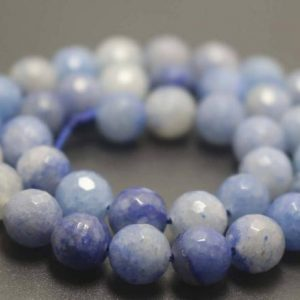 Shop Aventurine Faceted Beads! 128 Faceted Blue Aventurine Round Beads,6mm/8mm/10mm/12mm Gemstone Beads Supply,15 inches one starand | Natural genuine faceted Aventurine beads for beading and jewelry making.  #jewelry #beads #beadedjewelry #diyjewelry #jewelrymaking #beadstore #beading #affiliate #ad
