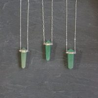 Aventurine Necklace / Silver Aventurine Necklace / Aventurine Pendant / Aventurine Crystal / Manifesting Prosperity / Green Aventurine | Natural genuine Gemstone jewelry. Buy crystal jewelry, handmade handcrafted artisan jewelry for women.  Unique handmade gift ideas. #jewelry #beadedjewelry #beadedjewelry #gift #shopping #handmadejewelry #fashion #style #product #jewelry #affiliate #ad