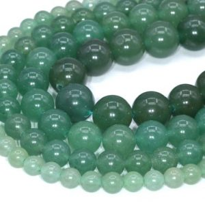 Shop Aventurine Round Beads! Green Aventurine Beads Grade AAA Genuine Natural Gemstone Round Loose Beads 4MM 6MM 8MM 10MM 16MM Bulk Lot Options | Natural genuine round Aventurine beads for beading and jewelry making.  #jewelry #beads #beadedjewelry #diyjewelry #jewelrymaking #beadstore #beading #affiliate #ad