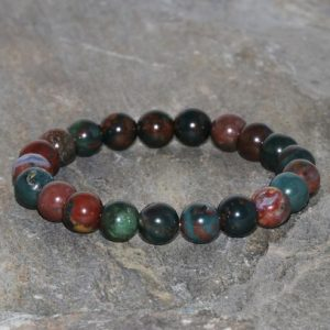 Shop Bloodstone Bracelets! Heliotrope Bracelet Handmade 8mm Grade Aa Bloodstone Gemstone Bracelet Green And Red Blood Stone Beaded Bracelet Heliotrope Jasper Bracelet | Natural genuine Bloodstone bracelets. Buy crystal jewelry, handmade handcrafted artisan jewelry for women.  Unique handmade gift ideas. #jewelry #beadedbracelets #beadedjewelry #gift #shopping #handmadejewelry #fashion #style #product #bracelets #affiliate #ad