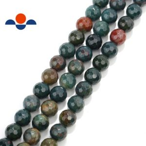 "Shop Bloodstone Beads! Natural Bloodstone Faceted Round Beads 4mm 6mm 8mm 10mm 15.5"" Strand 
