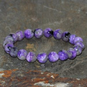 Shop Charoite Jewelry! 8mm Charoite Bracelet, Russian Charoite Jewelry, Mala Beads Charoite Jewelry, Purple Bracelet, Gemstone Bracelet, Bracelets For Womens | Natural genuine Charoite jewelry. Buy crystal jewelry, handmade handcrafted artisan jewelry for women.  Unique handmade gift ideas. #jewelry #beadedjewelry #beadedjewelry #gift #shopping #handmadejewelry #fashion #style #product #jewelry #affiliate #ad