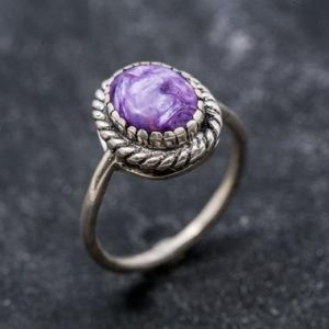 Shop Charoite Jewelry! Vintage Ring, Charoite Ring, Natural Charoite, Purple Ring, Scorpio Birthstone, Purple Charoite Ring, Unique Ring, Silver Ring, Charoite | Natural genuine Charoite jewelry. Buy crystal jewelry, handmade handcrafted artisan jewelry for women.  Unique handmade gift ideas. #jewelry #beadedjewelry #beadedjewelry #gift #shopping #handmadejewelry #fashion #style #product #jewelry #affiliate #ad