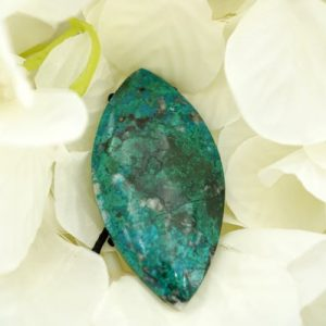 Shop Chrysocolla Beads! Chrysocolla Freeform Pendant (etp00119) Peruvian / unique Jewelry / vintage Jewelry / gemstone Pendants | Natural genuine beads Chrysocolla beads for beading and jewelry making.  #jewelry #beads #beadedjewelry #diyjewelry #jewelrymaking #beadstore #beading #affiliate #ad