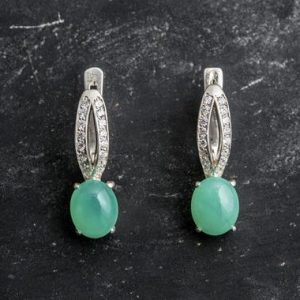Shop Chrysoprase Earrings! Chrysoprase Earrings, Natural Chrysoprase, Green Chrysoprase, May Birthstone, Vintage Earrings, Green Earrings, Silver Earrings, Chrysoprase   Natural genuine Chrysoprase earrings. Buy crystal jewelry, handmade handcrafted artisan jewelry for women.  Unique handmade gift ideas. #jewelry #beadedearrings #beadedjewelry #gift #shopping #handmadejewelry #fashion #style #product #earrings #affiliate #ad