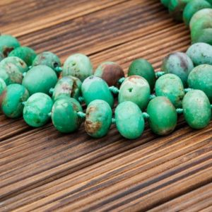 Natural Chrysoprase Rondelle Beads (etb00877) Unique Jewelry / vintage Jewelry / gemstone Necklace | Natural genuine rondelle Chrysoprase beads for beading and jewelry making.  #jewelry #beads #beadedjewelry #diyjewelry #jewelrymaking #beadstore #beading #affiliate #ad