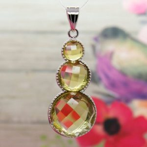 Shop Citrine Faceted Beads! Natural Citrine Pendant Citrine Faceted Round Heart Shape Gemstone Pendant Silver Plated | Natural genuine faceted Citrine beads for beading and jewelry making.  #jewelry #beads #beadedjewelry #diyjewelry #jewelrymaking #beadstore #beading #affiliate #ad