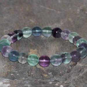 Shop Fluorite Bracelets! 8mm Rainbow Fluorite Stacking Bracelet Healing Crystals Chakra Bracelet Natural Purple Green and Transparent Fluorite Stones Gift Bracelet | Natural genuine Fluorite bracelets. Buy crystal jewelry, handmade handcrafted artisan jewelry for women.  Unique handmade gift ideas. #jewelry #beadedbracelets #beadedjewelry #gift #shopping #handmadejewelry #fashion #style #product #bracelets #affiliate #ad
