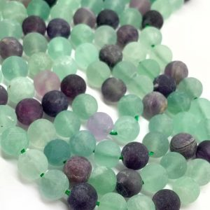 Shop Fluorite Round Beads! Matte Rainbow Blue Fluorite Beads 8mm Round Rainbow Blue Fluorite Gemstone Beads / Gemstone Beads / fluorite Beads / Choose Quantity | Natural genuine round Fluorite beads for beading and jewelry making.  #jewelry #beads #beadedjewelry #diyjewelry #jewelrymaking #beadstore #beading #affiliate #ad