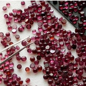 Shop Garnet Cabochons! 1.5-2.5mm Garnet Round Cabochons, Garnet Flat Back Plain Round Cabochons, Loose Garnet, Garnet For Jewelry (5cts To 20cts Options) – Ps4000 | Natural genuine stones & crystals in various shapes & sizes. Buy raw cut, tumbled, or polished gemstones for making jewelry or crystal healing energy vibration raising reiki stones. #crystals #gemstones #crystalhealing #crystalsandgemstones #energyhealing #affiliate #ad
