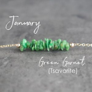 Shop Garnet Necklaces! Tsavorite – Green Garnet Raw Crystal Necklace, January Birthstone Jewelry, Healing Stone Gifts For Friends | Natural genuine Garnet necklaces. Buy crystal jewelry, handmade handcrafted artisan jewelry for women.  Unique handmade gift ideas. #jewelry #beadednecklaces #beadedjewelry #gift #shopping #handmadejewelry #fashion #style #product #necklaces #affiliate #ad