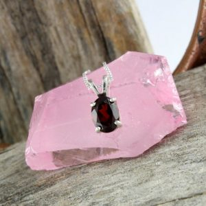 Shop Garnet Pendants! Natural Red Garnet Pendant – Sterling Silver Pendant – Red Garnet Necklace – Pendant Necklace | Natural genuine Garnet pendants. Buy crystal jewelry, handmade handcrafted artisan jewelry for women.  Unique handmade gift ideas. #jewelry #beadedpendants #beadedjewelry #gift #shopping #handmadejewelry #fashion #style #product #pendants #affiliate #ad