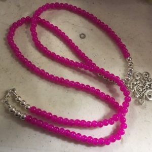 Shop Jade Pendants! Hot Pink Necklace – Silver Tree Pendant Jewelry – Long – Jade Gemstone Jewellery – beaded | Natural genuine Jade pendants. Buy crystal jewelry, handmade handcrafted artisan jewelry for women.  Unique handmade gift ideas. #jewelry #beadedpendants #beadedjewelry #gift #shopping #handmadejewelry #fashion #style #product #pendants #affiliate #ad
