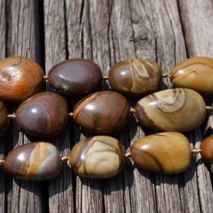 Shop Jasper Chip & Nugget Beads! Landscape/ Polychrome jasper pebble beads 14-18mm (ETB00389) Unique jewelry/Vintage jewelry/Gemstone necklace | Natural genuine chip Jasper beads for beading and jewelry making.  #jewelry #beads #beadedjewelry #diyjewelry #jewelrymaking #beadstore #beading #affiliate #ad