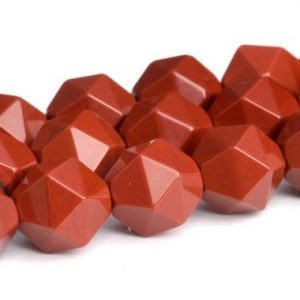 Shop Jasper Faceted Beads! Dark Red Jasper Beads Star Cut Faceted Grade AAA Genuine Natural Gemstone Loose Beads 5-6MM 7-8MM 9-10MM Bulk Lot Options | Natural genuine faceted Jasper beads for beading and jewelry making.  #jewelry #beads #beadedjewelry #diyjewelry #jewelrymaking #beadstore #beading #affiliate #ad