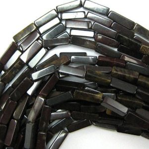 "Shop Jasper Bead Shapes! 13mm Poppy Jasper Side Tube Beads 16"" Strand 33960 