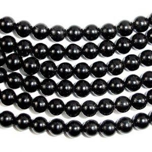 Jet Gemstone Beads, Round, 6 mm, 16 Inch, Full strand, Approx 67 beads, Hole 1 mm (289054001) | Natural genuine beads Jet beads for beading and jewelry making.  #jewelry #beads #beadedjewelry #diyjewelry #jewelrymaking #beadstore #beading #affiliate #ad