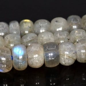 """Shop Labradorite Rondelle Beads! 5x3mm Gray Labradorite Beads Grade Aa Genuine Natural Gemstone Full Strand Rondelle Loose Beads 15"""" Bulk Lot 1, 3, 5, 10 And 50 (105024-1394) 