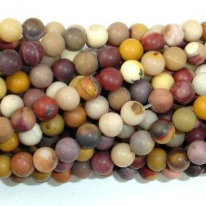 Shop Mookaite Beads! Matte Mookaite Beads, 6mm (6.5mm) Round Beads, 15.5 Inch, Full Strand, Approx 62 Beads, Hole 0.8 Mm, A Quality (320054010) | Natural genuine round Mookaite beads for beading and jewelry making.  #jewelry #beads #beadedjewelry #diyjewelry #jewelrymaking #beadstore #beading #affiliate #ad