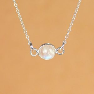 Shop Moonstone Necklaces! Moonstone necklace – silver moonstone – june birthstone – rainbow moonstone – a silver bezel set moonstone on a sterling silver chain | Natural genuine Moonstone necklaces. Buy crystal jewelry, handmade handcrafted artisan jewelry for women.  Unique handmade gift ideas. #jewelry #beadednecklaces #beadedjewelry #gift #shopping #handmadejewelry #fashion #style #product #necklaces #affiliate #ad