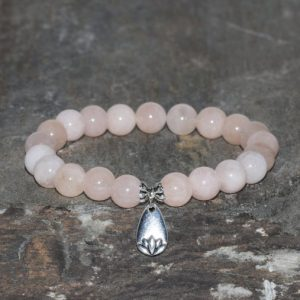 Shop Morganite Bracelets! Pink Morganite Bracelet Grade AA 8mm Madagascar Morganite Natural Gemstone Bracelet Stack Bracelet Beaded Gift Bracelet Silver Lotus Charm | Natural genuine Morganite bracelets. Buy crystal jewelry, handmade handcrafted artisan jewelry for women.  Unique handmade gift ideas. #jewelry #beadedbracelets #beadedjewelry #gift #shopping #handmadejewelry #fashion #style #product #bracelets #affiliate #ad