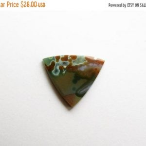 Shop Ocean Jasper Cabochons! Green Ocean Jasper Cabochon – Natural Stone Cab – Destash | Natural genuine stones & crystals in various shapes & sizes. Buy raw cut, tumbled, or polished gemstones for making jewelry or crystal healing energy vibration raising reiki stones. #crystals #gemstones #crystalhealing #crystalsandgemstones #energyhealing #affiliate #ad