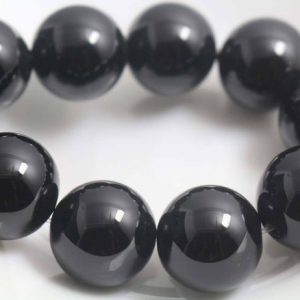 Shop Onyx Round Beads! 18mm Natural Black Onyx Beads,Natural Smooth and Round  Beads,15 inches one starand | Natural genuine round Onyx beads for beading and jewelry making.  #jewelry #beads #beadedjewelry #diyjewelry #jewelrymaking #beadstore #beading #affiliate #ad