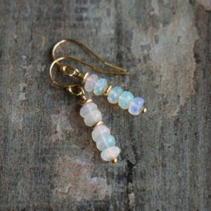 Shop Opal Earrings! Fire Opal Drop Earrings In Sterling Silver Or 14k Gold Filled, October Birthday Gifts For Her, Ethiopian Opal Jewelry | Natural genuine Opal earrings. Buy crystal jewelry, handmade handcrafted artisan jewelry for women.  Unique handmade gift ideas. #jewelry #beadedearrings #beadedjewelry #gift #shopping #handmadejewelry #fashion #style #product #earrings #affiliate #ad