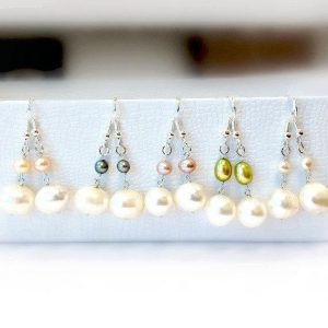 Pearl Earrings – Bridesmaid Earrings – Gift – June Birthstone Sterling Silver Jewelry Wedding Jewellery Bride Gifts ER-103-107 | Natural genuine Gemstone earrings. Buy handcrafted artisan wedding jewelry.  Unique handmade bridal jewelry gift ideas. #jewelry #beadedearrings #gift #crystaljewelry #shopping #handmadejewelry #wedding #bridal #earrings #affiliate #ad
