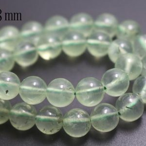 Shop Prehnite Round Beads! 8mm Natural Prehnite Beads,Smooth and Round Stone Beads,15 inches one starand | Natural genuine round Prehnite beads for beading and jewelry making.  #jewelry #beads #beadedjewelry #diyjewelry #jewelrymaking #beadstore #beading #affiliate #ad