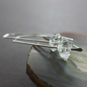 Shop Quartz Crystal Earrings! Threader Herkimer Diamond Sterling Silver Earrings With Aaa Quality Quartz Stones – Modern Earrings – Diamond Earrings – Er133 | Natural genuine Quartz earrings. Buy crystal jewelry, handmade handcrafted artisan jewelry for women.  Unique handmade gift ideas. #jewelry #beadedearrings #beadedjewelry #gift #shopping #handmadejewelry #fashion #style #product #earrings #affiliate #ad