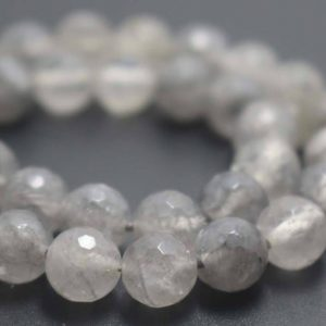 Shop Quartz Crystal Faceted Beads! Natural 128 Faceted Cloud Crystal Quartz Round Beads,6mm/8mm/10mm/12mm Faceted Quartz Beads Supply,15 inches one starand | Natural genuine faceted Quartz beads for beading and jewelry making.  #jewelry #beads #beadedjewelry #diyjewelry #jewelrymaking #beadstore #beading #affiliate #ad