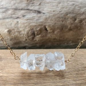 Shop Quartz Crystal Necklaces! April Birthstone Necklace – Clear Quartz Necklace – Healing Crystal Necklace – Raw Crystal Necklace – Gift For Her | Natural genuine Quartz necklaces. Buy crystal jewelry, handmade handcrafted artisan jewelry for women.  Unique handmade gift ideas. #jewelry #beadednecklaces #beadedjewelry #gift #shopping #handmadejewelry #fashion #style #product #necklaces #affiliate #ad