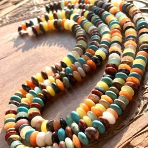 Shop Quartz Crystal Rondelle Beads! Mixed Multi Gemstone Quartz Rondelle Disc Beads 8mm Mixed Colours Colors Rainbow Beads | Natural genuine rondelle Quartz beads for beading and jewelry making.  #jewelry #beads #beadedjewelry #diyjewelry #jewelrymaking #beadstore #beading #affiliate #ad